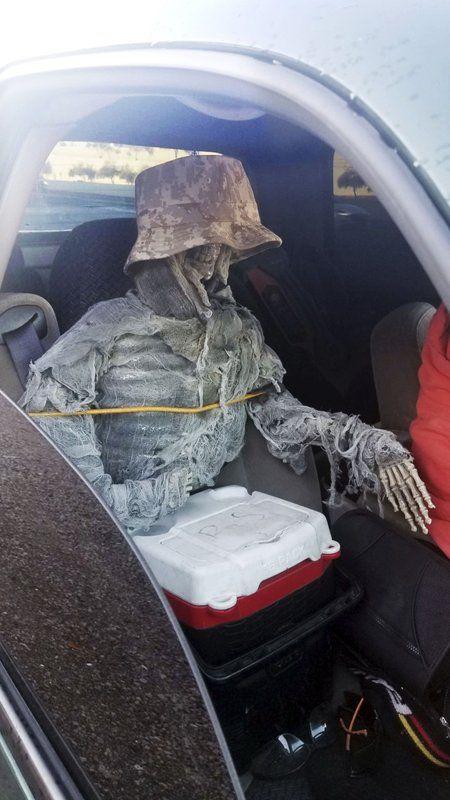 Man Used Fake Skeleton To Drive in HOV Lane