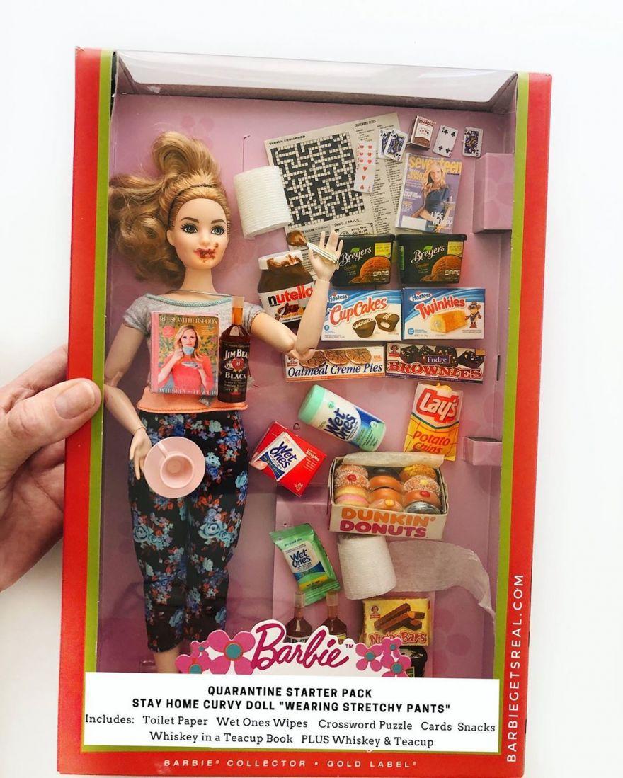 Tonya Ruiz's Quarantine Editions of Barbie and Ken