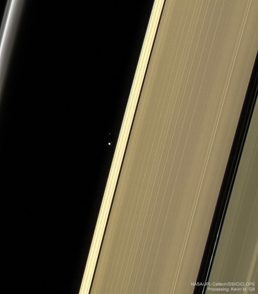 We Are But A Dot From Saturn's Point Of View