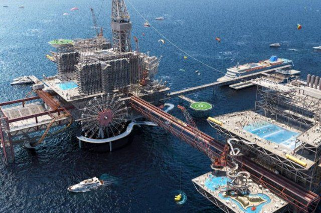 Saudi Arabia is Turning an Oil Rig into an Extreme Theme Park