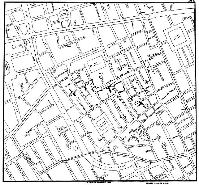 John Snow's Cholera Map on Broad Street
