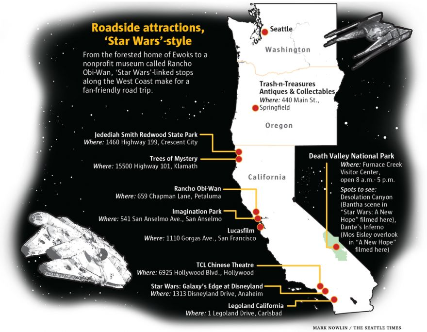 A Star Wars Fan's Pilgrimage: Places You Should Visit for a Star Wars Themed Road Trip
