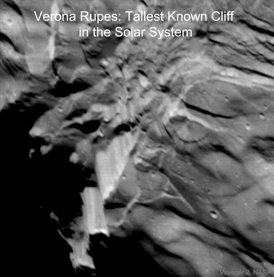 The Tallest Known Cliff in the Solar System