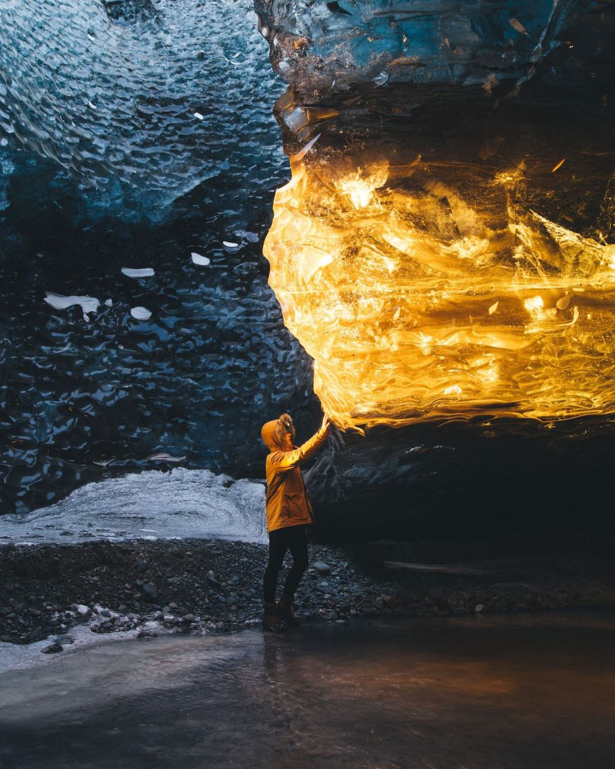 the-sun-turned-this-ice-cave-into-amber