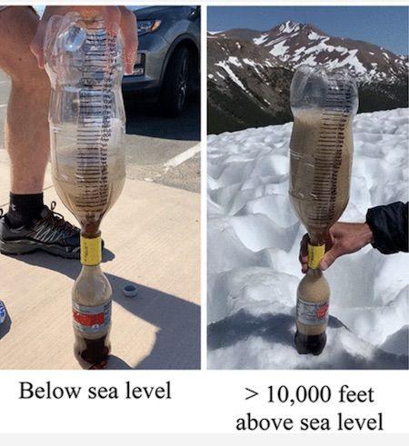 Mentos + Cola Experiment at Various Altitudes
