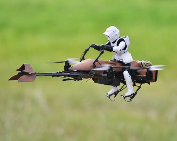 Homemade Star Wars Speeder Bike
