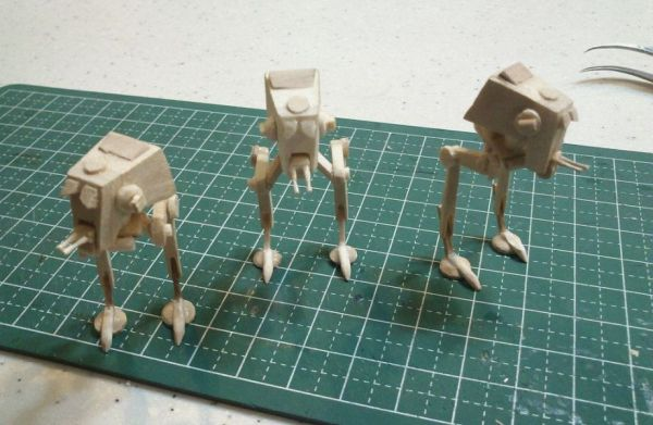 Mini AT-ST Popsicle Stick Model - Neatorama