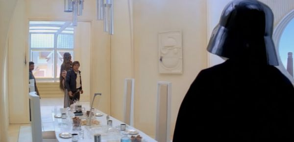 Darth Vader's Elaborate Surprise Cloud City Dinner Table Plan