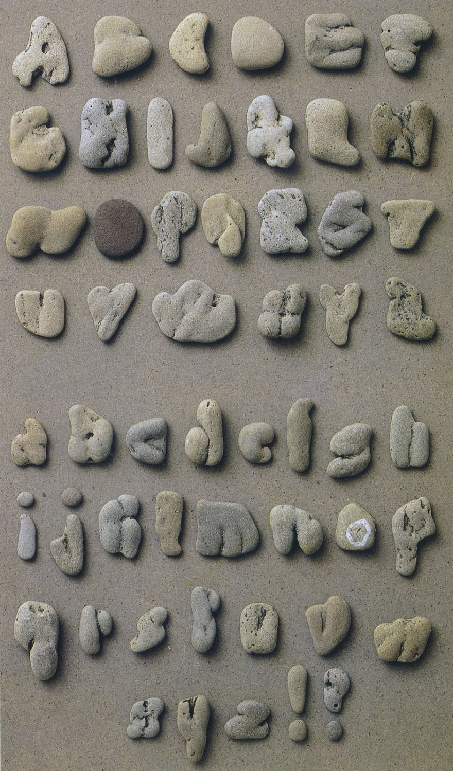 Don't Skip Rocks. Collect Stone Alphabets
