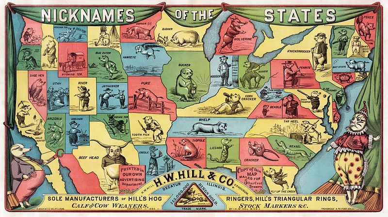 Old Nicknames for Different States