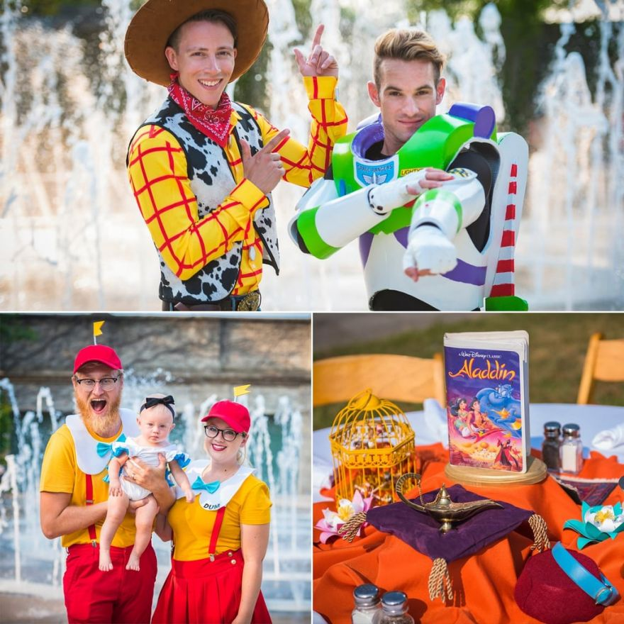 This Disney-Themed Wedding Had Every Guest Dress As A Disney Character