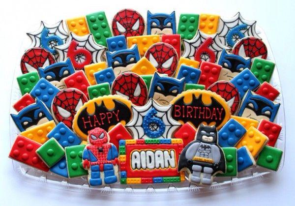 Spider Man And Batman Lego Cookies Neatorama