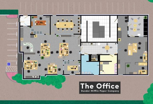7 Fictional Workplace Floor Plans Neatorama – Floor Plans Of Tv Homes
