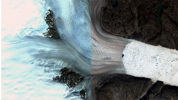 Greenland's Glaciers After 46 Years: Landsat Images Provide Glimpse of Changes in Glacial Structure