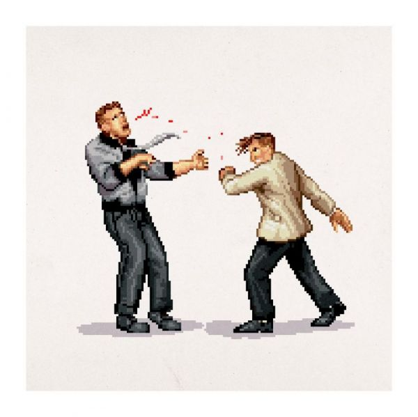 Pixel Art Celebrating Iconic Punch Scenes In Movies And TV