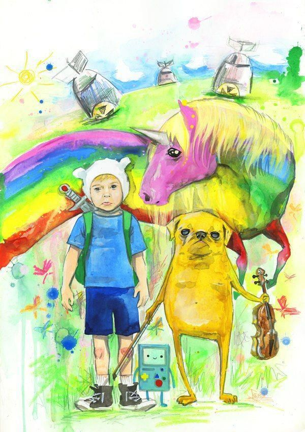 A Little Too Realistic Version Of Adventure Time Neatorama