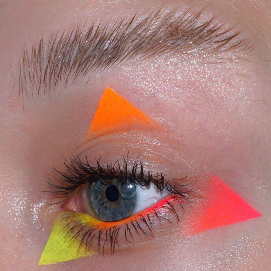 Aaron Storms's Geometric Eye Makeup