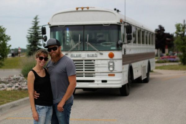Couple Turn Old School Bus Into Rv That Truly Feels Like