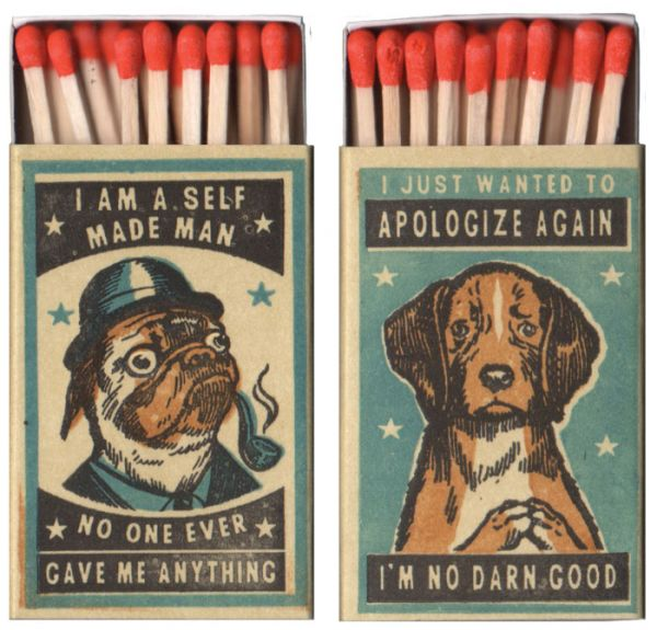 Matchbox Art Featuring Dogs with Personalities