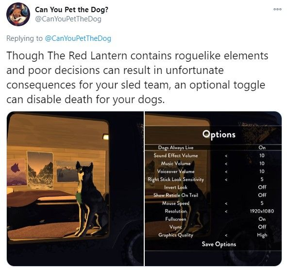 There Is An Option In The Red Lantern Where Your Dogs Will Always Stay Alive