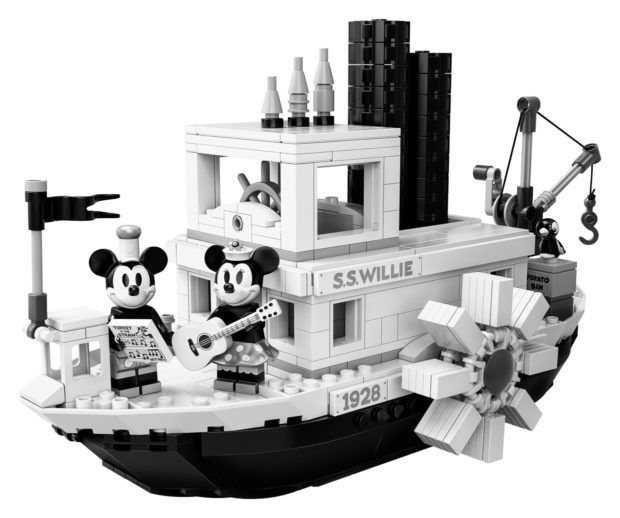 Steamboat Willie LEGO Set Features Monochromatic Mickey Mouse and Minnie