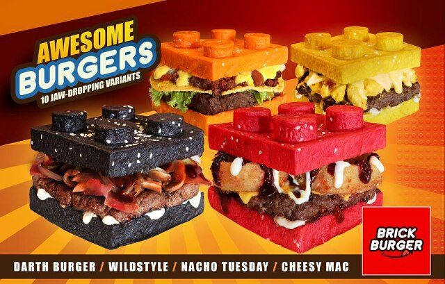 Burgers With Lego Buns
