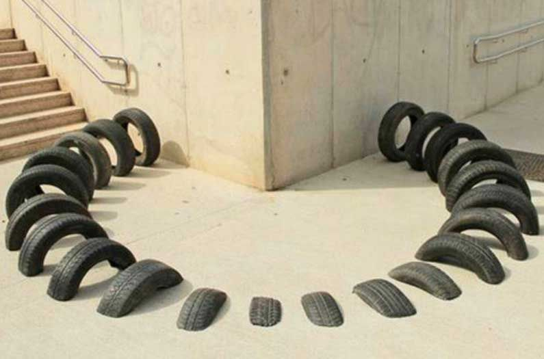 Stronger Concrete Created With Scrap Tires!