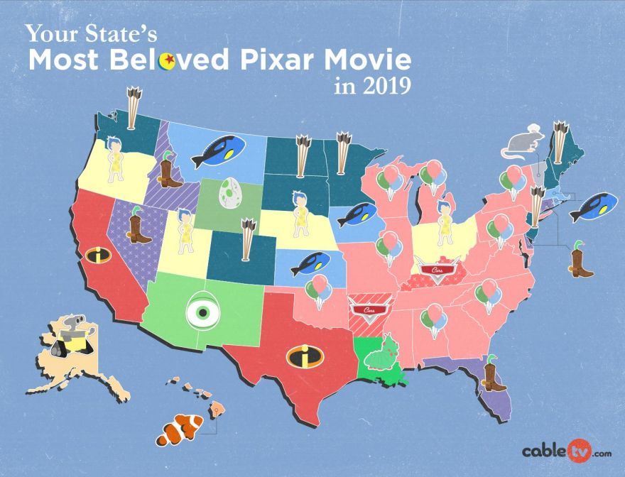 The Favorite Pixar Film of Every State, According to Google Trends
