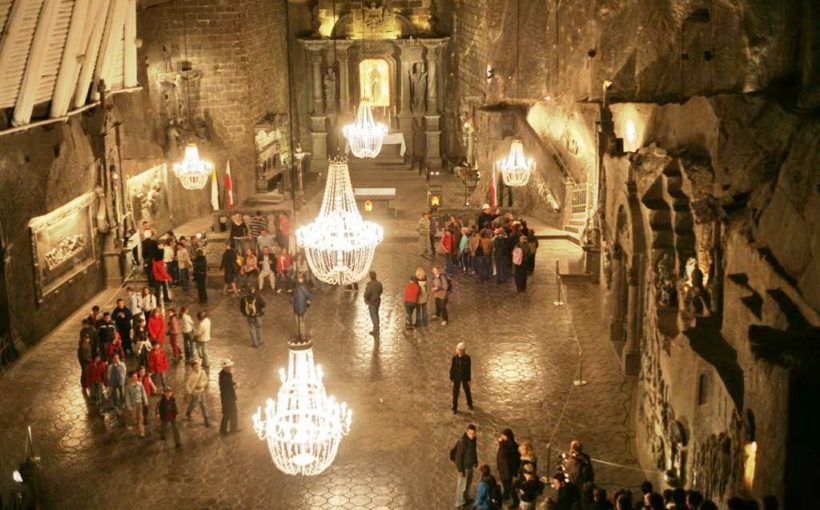 This Ancient Salt Mine In Poland Has Carved Chapels And Chandeliers