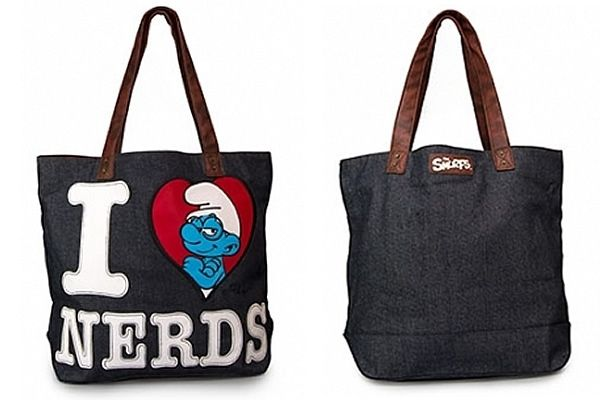 3e4d2e4752 I Love Nerds - The Smurfs Tote Bag