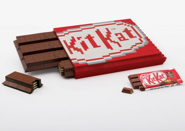 A Kit Kat Bar Made Entirely Of Lego Neatorama