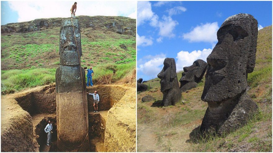 The Giant Heads of Easter Islands Have Bodies