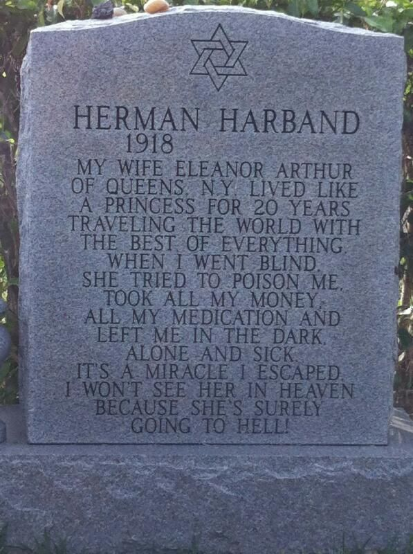 herman harband u2019s headstone
