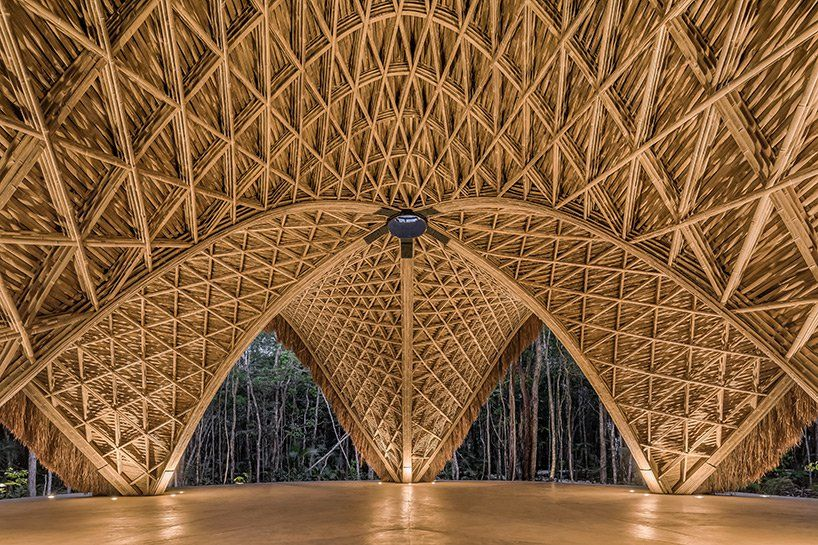 This Luum Temple Is Made From Bamboo Weaved Together