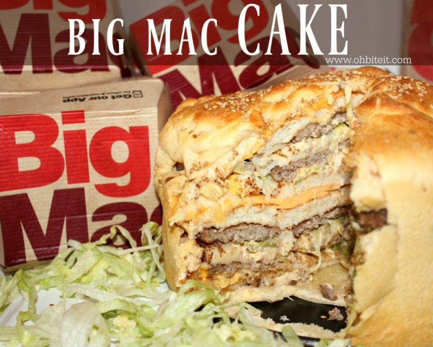 How to Make a Big Mac Cake