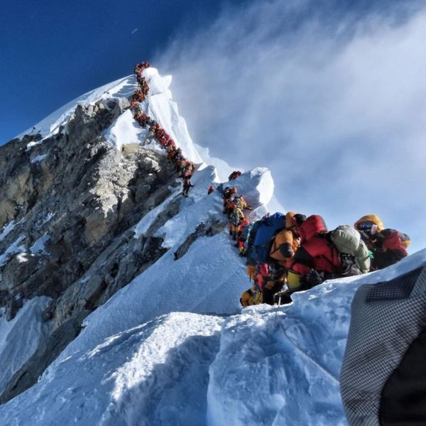 The View Going Up Everest