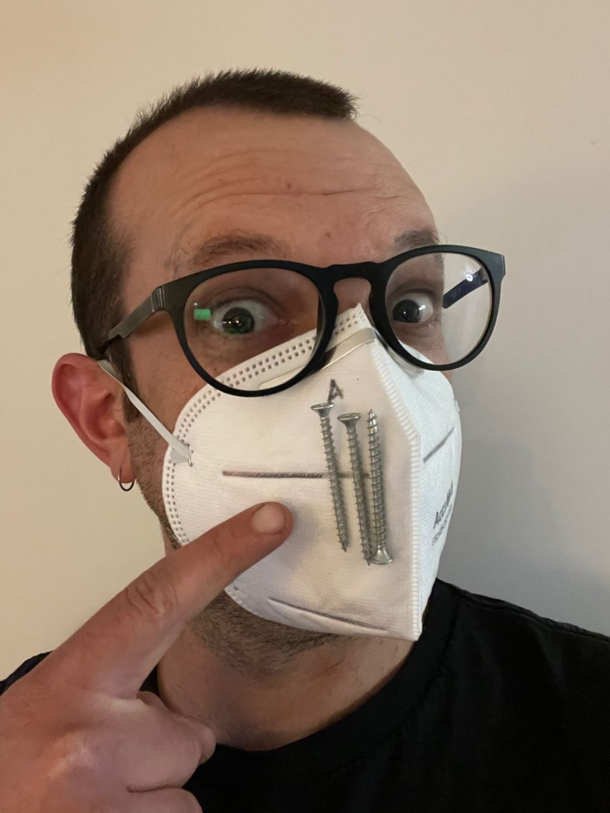 Mask Tip: Hold Screws onto Your Face with a Magnet