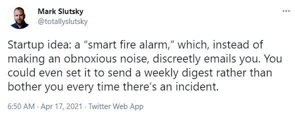 Brilliant Product Idea: A Smart Fire Alarm