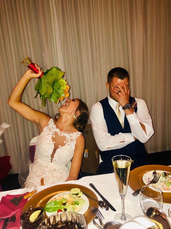 This Bride Receives A Chicken Nugget Bouquet At Her Wedding