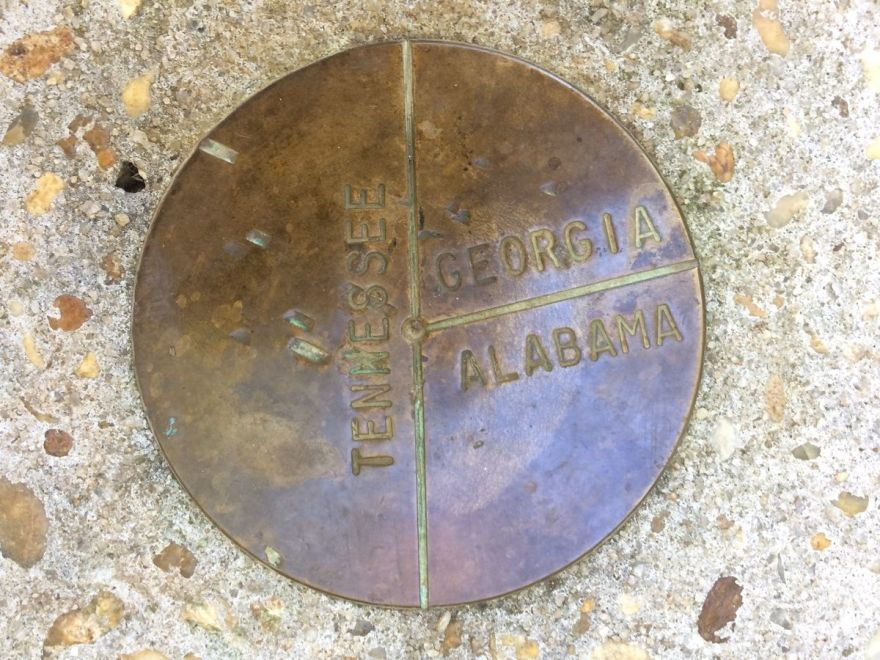 The Camak Stone Marks the Boundaries between Tennessee, Alabama, and Georgia