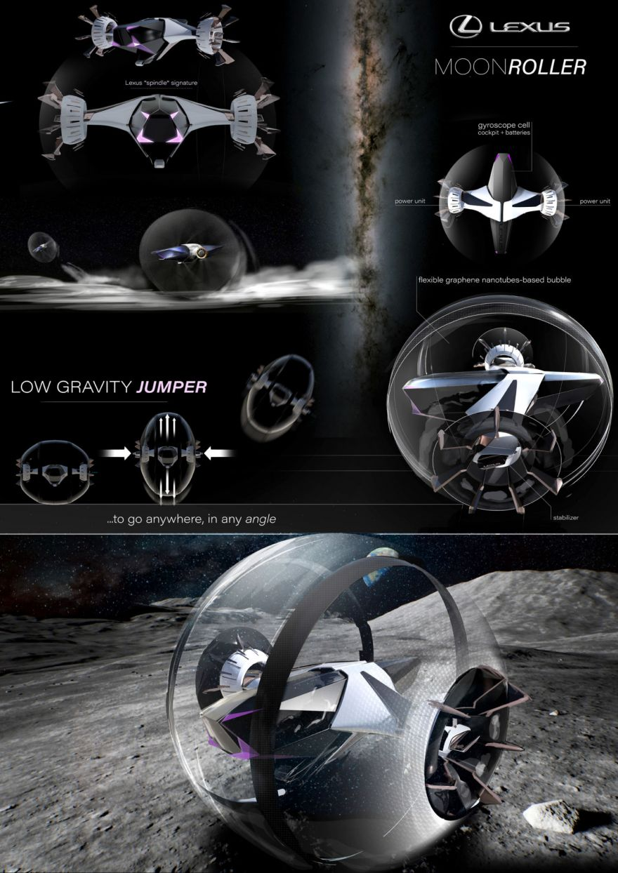 Futuristic Vehicle Designs That We Might Drive On The Moon