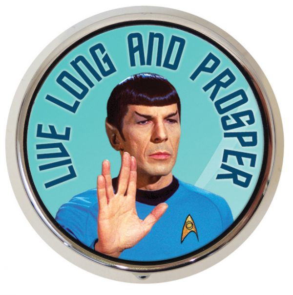 Star Trek Mr. Spock Live Long And Prosper Pill Box