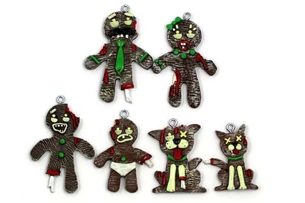 - Gingerbread Zombie Family Christmas Ornament Bundle - Neatorama