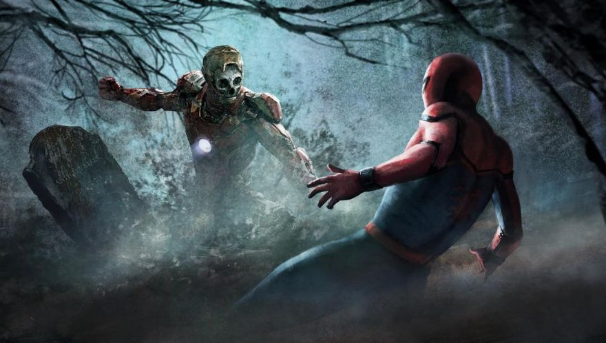 Spider-Man: Far From Home Concept Art Shows Spidey Fighting an Army of Iron Man Zombies