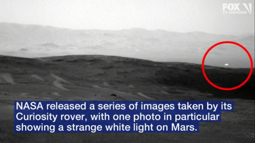 Image of Mysterious White Light On Mars, Captured By NASA's Curiosity Rover