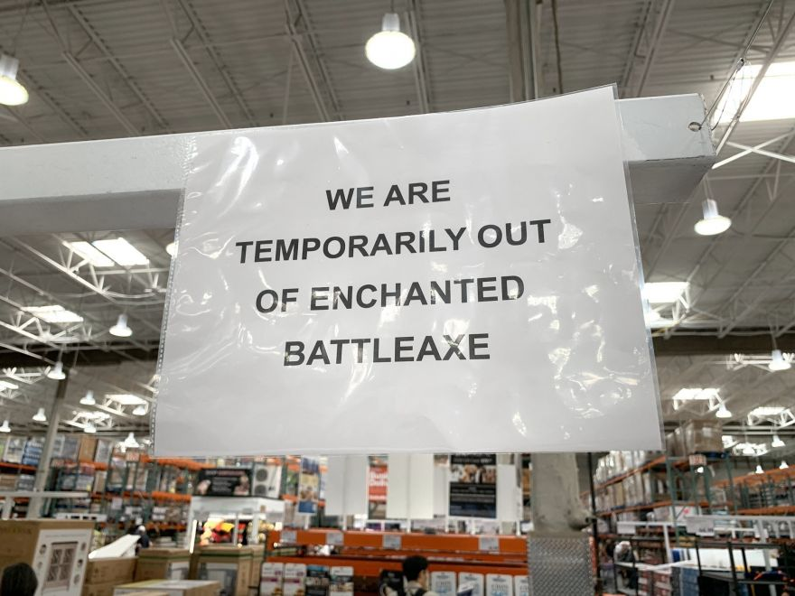 Prankster Leaves Signs for Magical Items around Costco