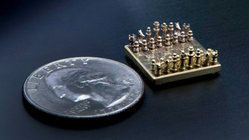 The World's Smallest Chess Set Can Fit on a Fingertip