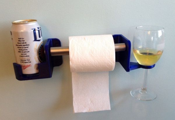 Make Your Bathroom Classy With This Boozy Toilet Paper Holder   Neatorama