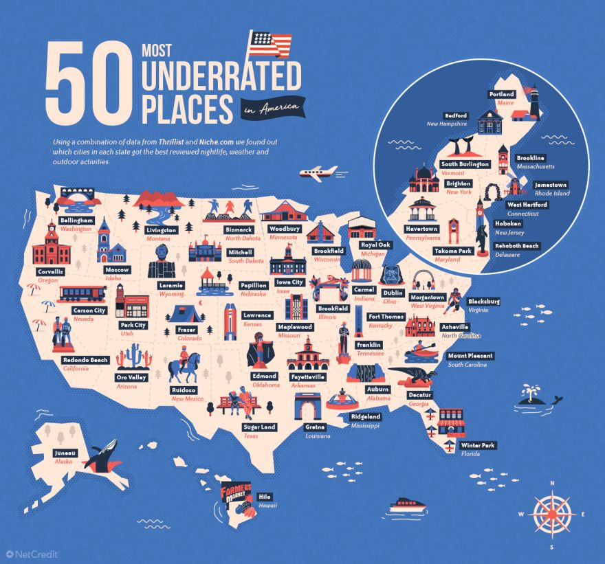 Map Reveals The Most Underrated Place In Each U.S. State