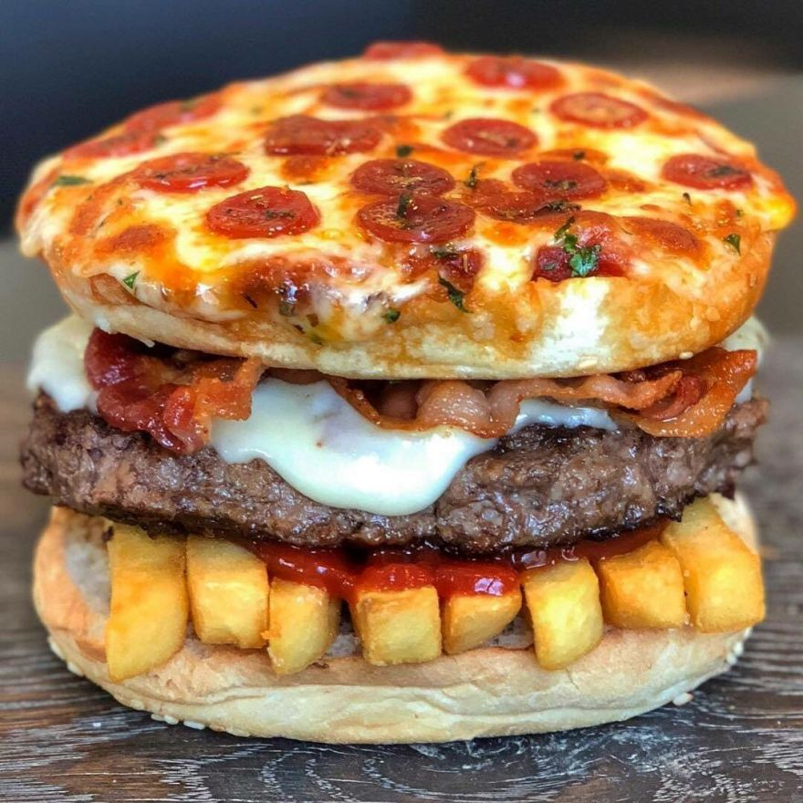 Q: Pizza, Burger Or Fries? A: YES!